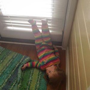 legs up the door_megan